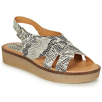 Shoes Women Sandals Kickers VICTORYNE White / Black / Python