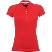 Clothing Women short-sleeved polo shirts Tommy Hilfiger NEW CHIARA Red