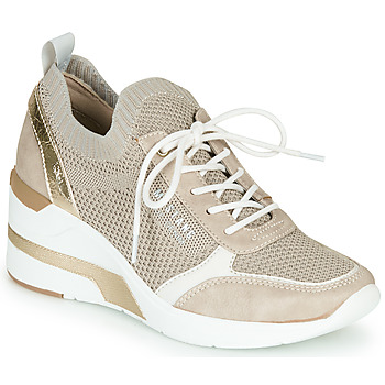 Shoes Women Low top trainers Mustang 1303303-4 Beige