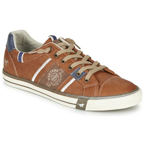Shoes Men Low top trainers Mustang 4072308-307 Cognac