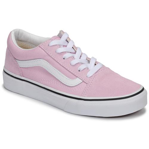 Shoes Girl Low top trainers Vans OLD SKOOL Pink