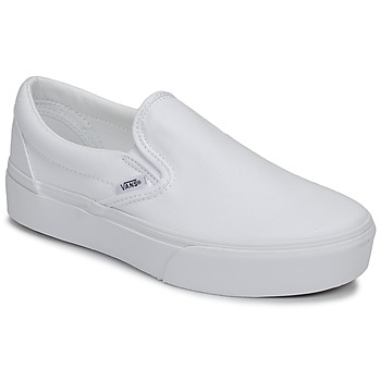 Shoes Women Slip-ons Vans Classic Slip-On Platform White