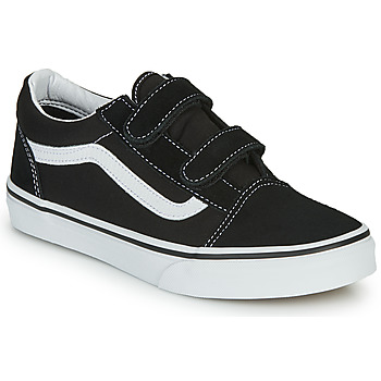 Shoes Children Low top trainers Vans OLD SKOOL V Black / White
