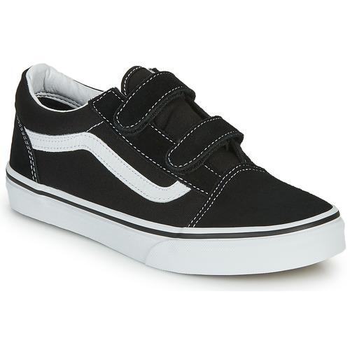 Shoes Children Low top trainers Vans OLD SKOOL V Black / White