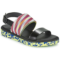 Shoes Women Sandals United nude OP SANDAL LO Black / Yellow
