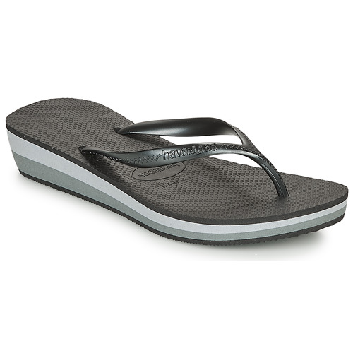 Shoes Women Flip flops Havaianas HIGH LIGHT Black / Grey