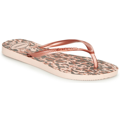 Shoes Women Flip flops Havaianas SLIM ANIMALS Pink / Gold