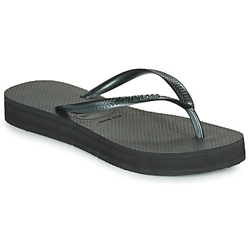 Shoes Women Flip flops Havaianas SLIM FLATFORM Black