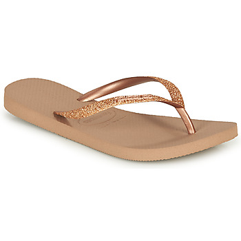 Shoes Women Flip flops Havaianas SLIM GLITTER Pink / Gold