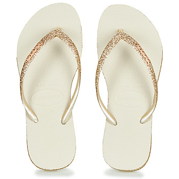 Shoes Women Flip flops Havaianas SLIM SPARKLE Beige / Gold