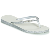 Shoes Women Flip flops Havaianas SLIM SPARKLE White / Silver