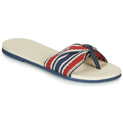 Shoes Women Flip flops Havaianas YOU ST. TROPEZ FITA Beige / Marine / Red
