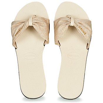 Shoes Women Flip flops Havaianas YOU SAINT TROPEZ MATERIAL Beige