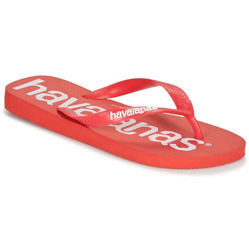 Shoes Men Flip flops Havaianas TOP LOGOMANIA Red