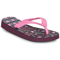 Shoes Girl Flip flops Havaianas KIDS FLORES Aubergine