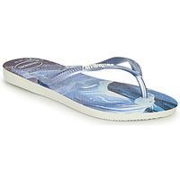Shoes Girl Flip flops Havaianas KIDS SLIM FROZEN Blue