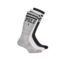 Shoe accessories Men Socks Polo Ralph Lauren 3PK DBLE BAR-CREW-3 PACK White / Grey / Black