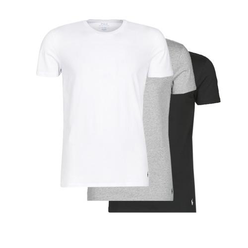 Clothing Men short-sleeved t-shirts Polo Ralph Lauren WHITE/BLACK/ANDOVER HTHR pack de