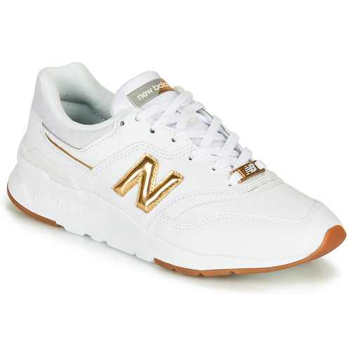 Shoes Women Low top trainers New Balance 997 White / Gold