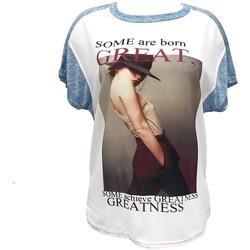 Clothing Women short-sleeved t-shirts By La Vitrine Tee-shirt B005 Bleu/Blanc Blue