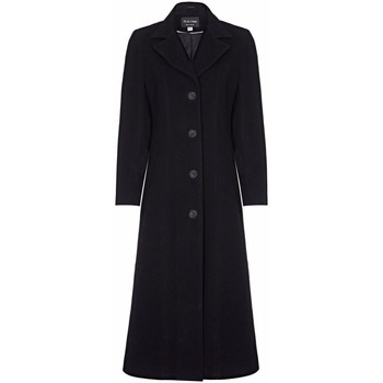 Clothing Women coats Anastasia Black Womens Single Breasted Cashmere Coat Black