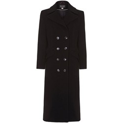 Clothing Women coats Anastasia Black Womens Double Breasted Cashmere Coat Black