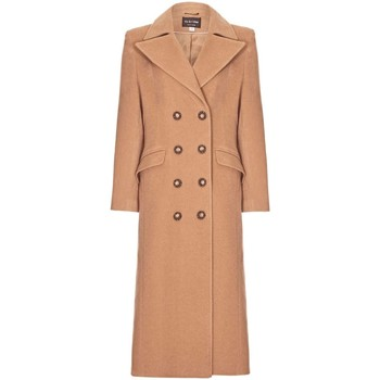 Clothing Women coats Anastasia Camel Womens Double Breasted Cashmere Coat Beige
