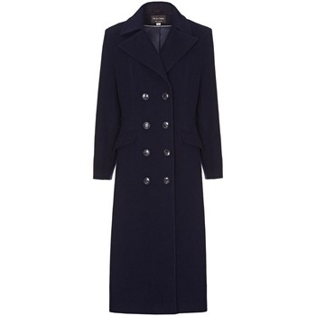 Clothing Women Coats Anastasia Navy Womens Double Breasted Cashmere Coat Navy