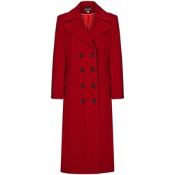 Clothing Women coats Anastasia De La Creme Red Womens Wool Cashmere Long Winter Coat Size 8 Red