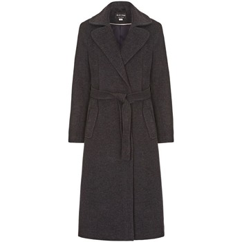 Clothing Women Trench coats Anastasia Grey Womens Cashmere Wrap Belted Coat Grey