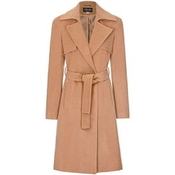 Clothing Women Trench coats Anastasia Womens Winter Wrap Wool Cashmere Coat Beige