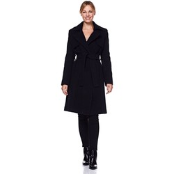 Clothing Women Trench coats Anastasia Womens Winter Wrap Wool Cashmere Coat Black