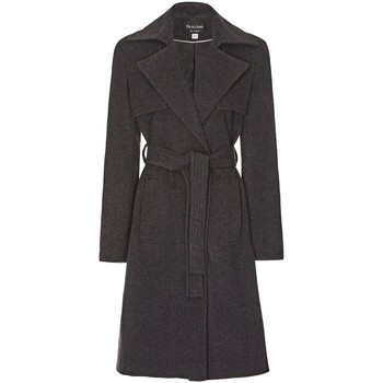 Clothing Women Trench coats Anastasia Womens Winter Wrap Wool Cashmere Coat Grey