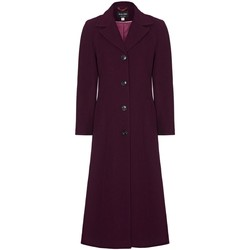 Clothing Women coats Anastasia Burgandy Womens Single Breasted Cashmere Coat Red