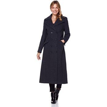 Clothing Women Coats Anastasia Grey Womens Single Breasted Cashmere Coat Grey