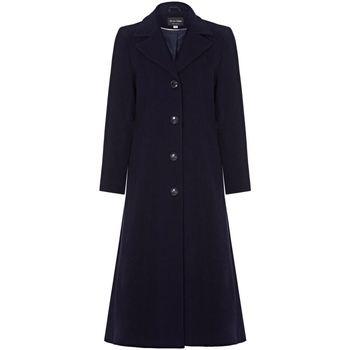 Clothing Women Coats Anastasia Navy Womens Single Breasted Cashmere Coat Navy