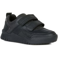Shoes Boy Low top trainers Geox Junior Perth Boys School Shoes black