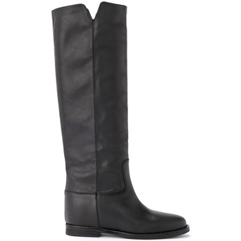 Shoes Women High boots Via Roma 15 boot in black leather Black