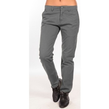 Clothing Women chinos Charlie Joe Pantalon  Gris  Waine Long Pant Grey