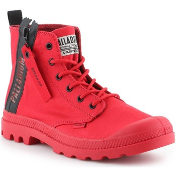 Shoes Hi top trainers Palladium Pampa Unzipped 76443-614-M red