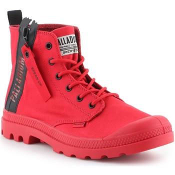 Shoes Men Hi top trainers Palladium Pampa Unzipped 76443-614-M red