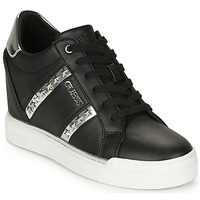 Shoes Women Hi top trainers Guess FL5FAY-ELE12-BLACK-SILVER Black / Silver