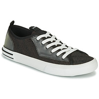 Shoes Men Low top trainers Guess NETTUNO LOW Black / Grey