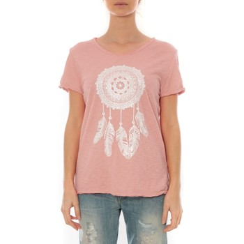 Clothing Women Short-sleeved t-shirts By La Vitrine Tee Shirt Anthracite Cake V Rose Pale Pink