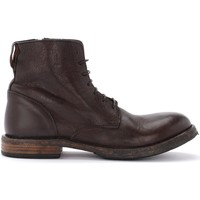 Shoes Men Mid boots Moma Cusna ankle boot in dark brown leather with side zip Black