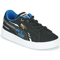 Shoes Boy Low top trainers Puma SUEDE SONIC Black / Blue
