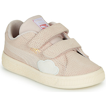 Shoes Girl Low top trainers Puma SUEDE Pink