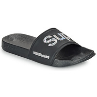 Shoes Women Tap-dancing Superdry HOLO INFIL POOL SLIDE Black