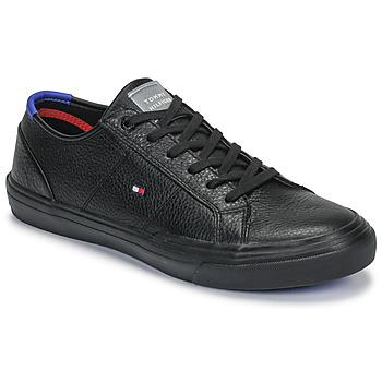 Shoes Men Low top trainers Tommy Hilfiger CORE CORPORATE FLAG SNEAKER Black