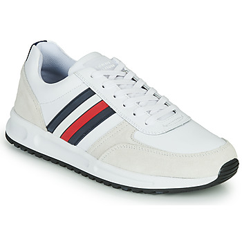 Shoes Men Low top trainers Tommy Hilfiger MODERN CORPORATE LEATHER RUNNER White